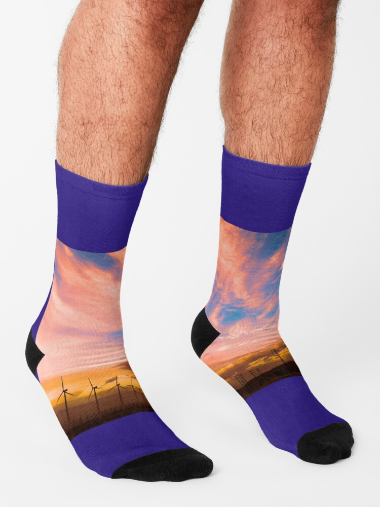 Alternate view of 0278 Southern California Desert Sunsets - A Landscape of Fiery Colors Socks