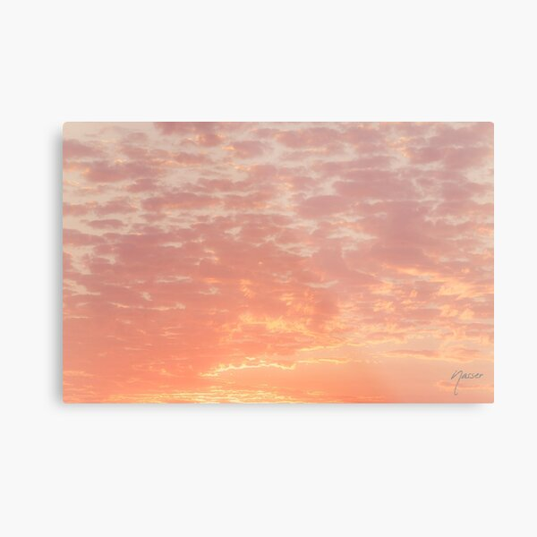 0359 Southern California Desert Sunsets - A Skyscape Landscape of Spirituality Metal Print