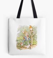 Peter Rabbit Steals Carrots Tote Bag