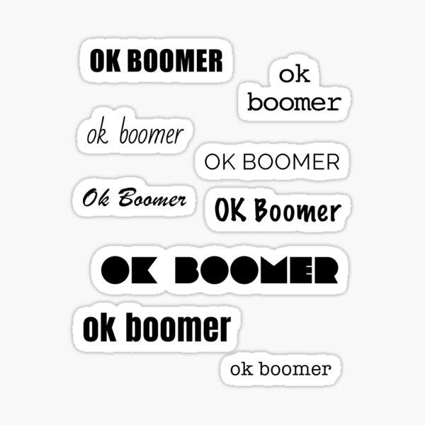 OK Boomer Meme Sticker Set Sticker