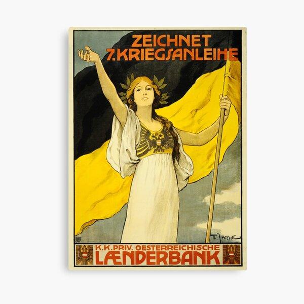 BUY WAR BONDS! Austrian Hungary World War 1 Vintage Propaganda Wall Art Canvas Print
