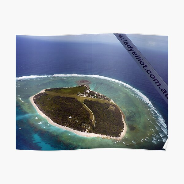 Above Lady Elliot Island Poster