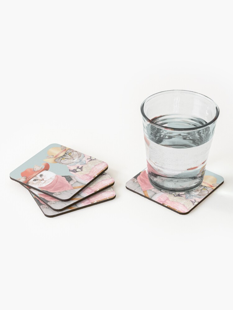 Alternate view of Cowboy Cats Coasters (Set of 4)
