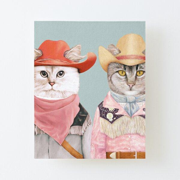 Cowboy Cats Canvas Mounted Print