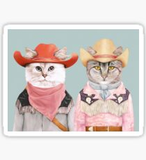 Cowboy Cats Sticker