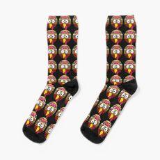 Turkey Face & Pink Headband Running Pilgrim Trot Funny Gift T-Shirt Socks