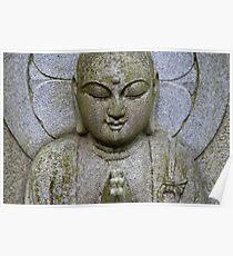 Stone Buddha Statue Poster