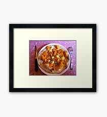 Pizza Organico Framed Print