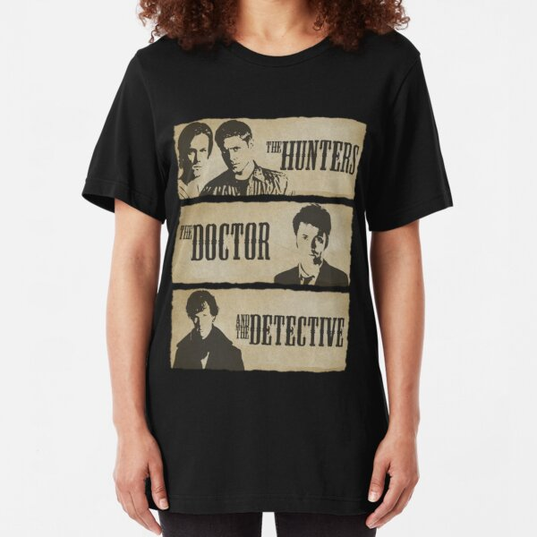 The Hunters, The Doctor and The Detective  Slim Fit T-Shirt