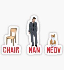 chari man meow Sticker