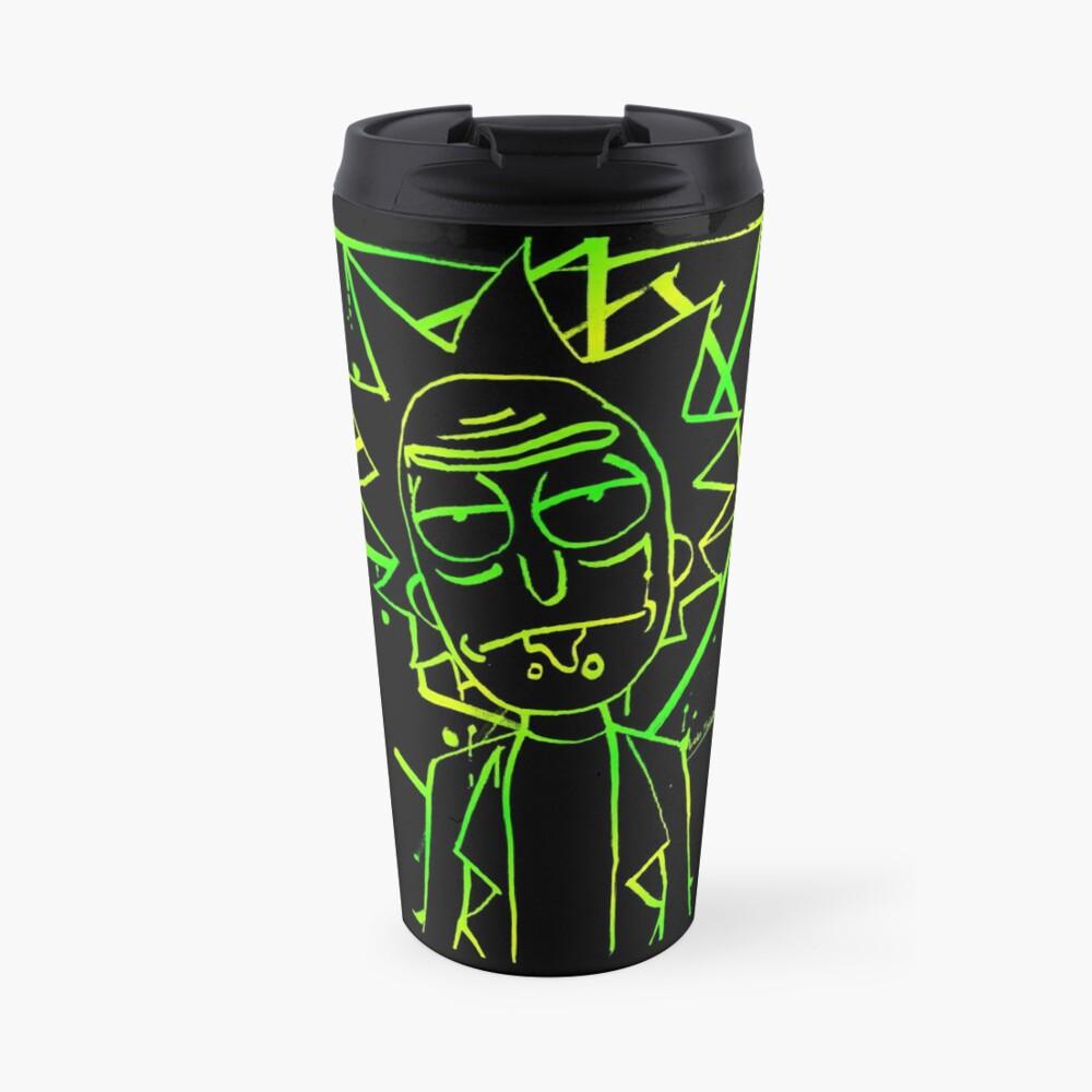Rick - Ink (portal green) Travel Mug