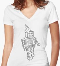 Party Machine Women's Fitted V-Neck T-Shirt