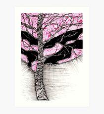Ein Baum im Sturm Kunstdruck