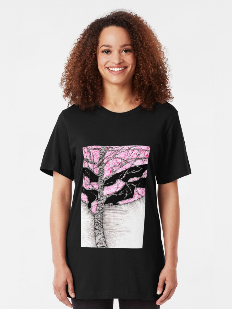 Alternate view of A tree in a storm - faith and truth Slim Fit T-Shirt