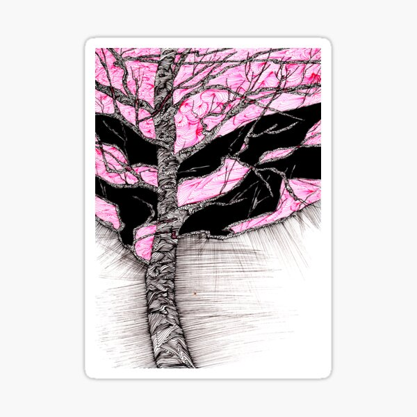 A tree in a storm - faith and truth Sticker