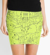 Come along with me outline version - Adventure Time Mini Skirt