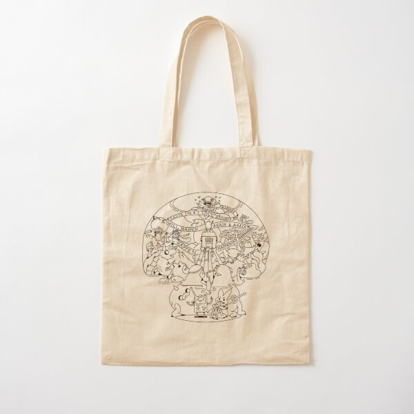 Come along with me outline version - Adventure Time Cotton Tote Bag