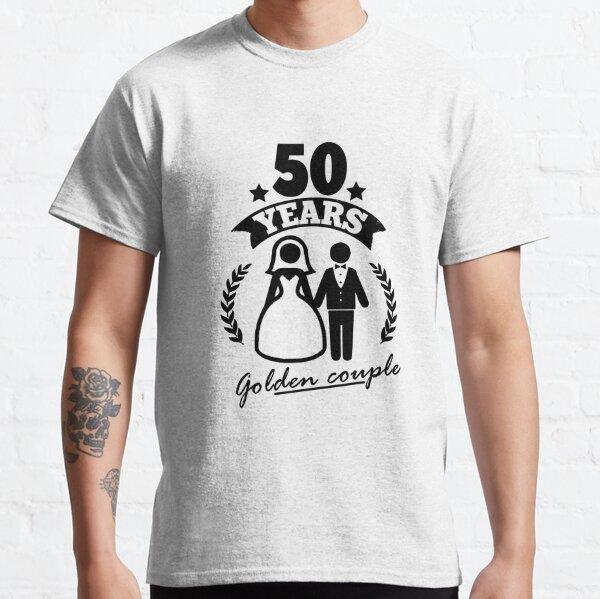 50 años - pareja dorada! Camiseta clásica