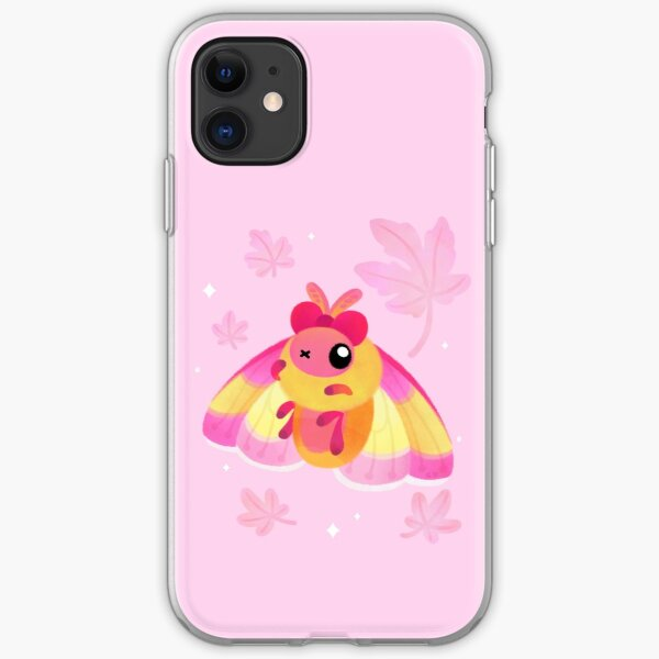 Rosy Maple Moth iPhone Soft Case