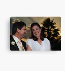 The Wedding of Sally & Ian Canvas Print