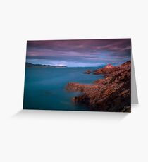 Eyes in the Sunset Sky Greeting Card