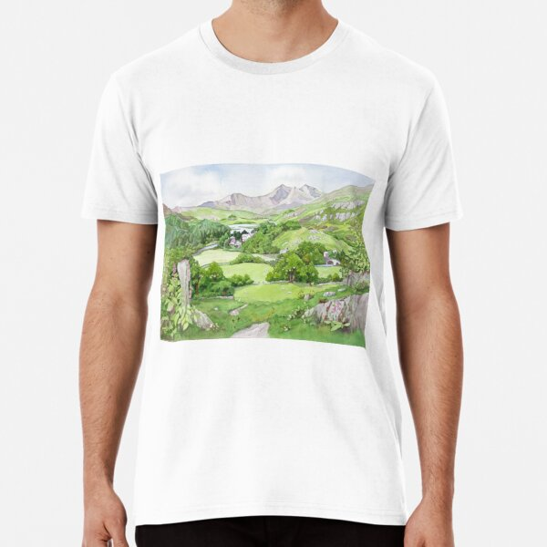Snowdon from Capel Curig, North Wales Premium T-Shirt