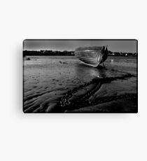 boat beach ballywalter Canvas Print