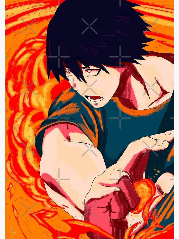 Fire Force Benimaru Shinmon Postcard By Brokenbeanie Redbubble Find this pin and more on benimaru shinmon by mia_thekilljoy. redbubble