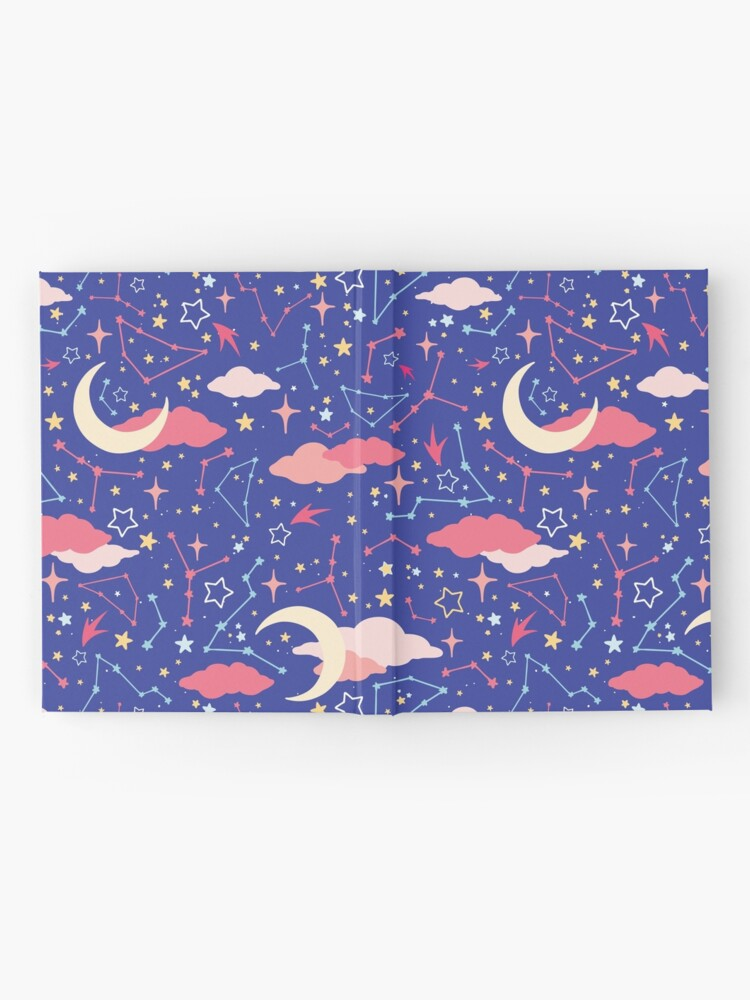 Alternate view of Constellation Stars and Moons in Neon Pastels Hardcover Journal