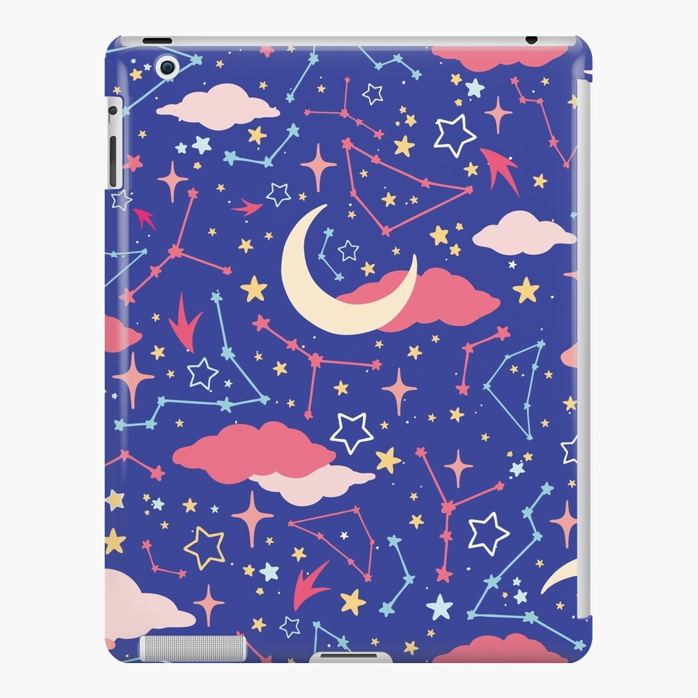 Constellation Stars and Moons in Neon Pastels iPad Snap Case