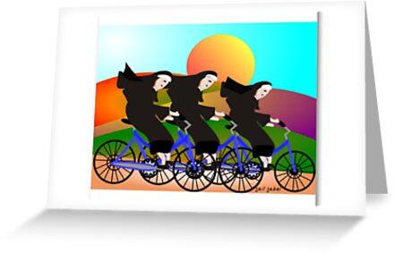 Nuns On Bikes by Gail Gabel, LLC