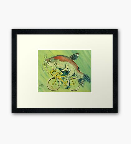 Catfish on a Bicycle Framed Print