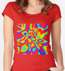 Abstract random colors #1 Fitted Scoop T-Shirt