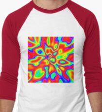 Abstract random colors #1 Baseball ¾ Sleeve T-Shirt