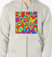 Abstract random colors #1 Zipped Hoodie