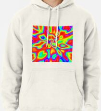 Abstract random colors #1 Pullover Hoodie