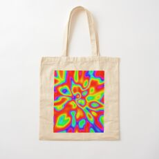 Abstract random colors #1 Cotton Tote Bag
