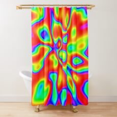 Abstract random colors #1 Shower Curtain