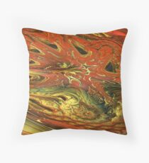 Fractal Fungus Throw Pillow