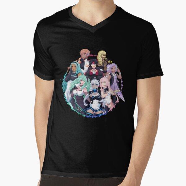 OGIENOID - IRIS Forever! Monochrome V-Neck T-Shirt