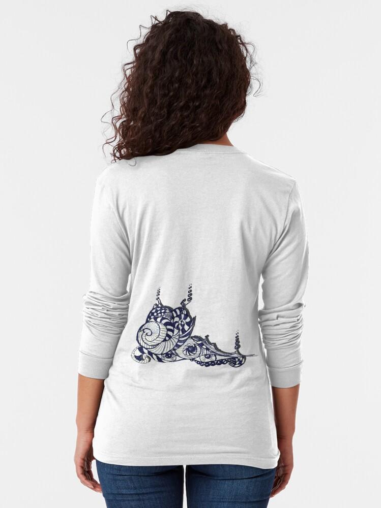 Alternate view of littleTscribble #8 Long Sleeve T-Shirt