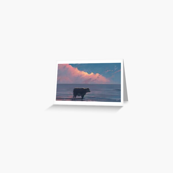 A Cow At The Sea Greeting Card