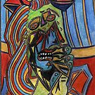 196 - PICASSO'S WEEPING WOMAN - DAVE EDWARDS - COLOURED PENCILS - 2007 by BLYTHART