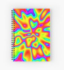 Abstract random colors #2 Spiral Notebook