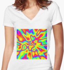 Abstract random colors #2 Fitted V-Neck T-Shirt