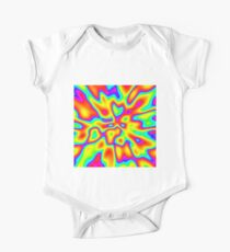 Abstract random colors #2 Short Sleeve Baby One-Piece