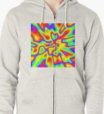 Abstract random colors #2 Zipped Hoodie