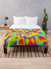 Abstract random colors #2 Throw Blanket