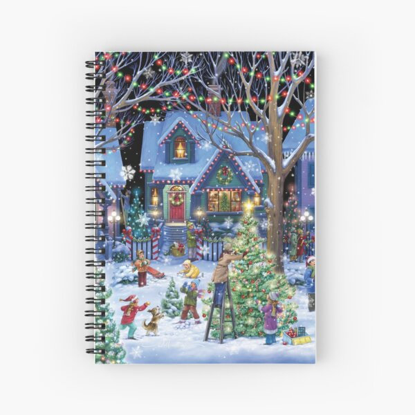 Decorating for Christmas Spiral Notebook