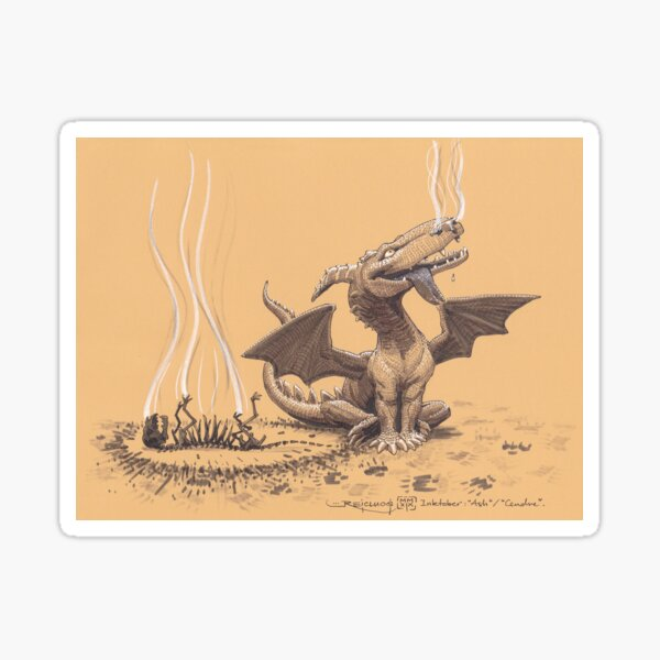 Dragon, man's most faithful friend Sticker